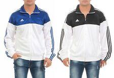 Adidas Warm Up Chaqueta Deportiva para Entrenar Hombre Blanco Azul Negro