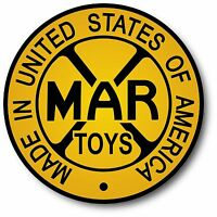 Vintage REPRODUCTION MARX USA Tin Wind Up Toy DECAL STICKER 4 INCH