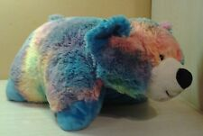 "My Pillow Pets Large 20"" Tie Dye Peace Bear Plush NWOT stuffed animal pillow"