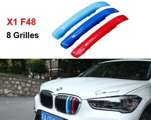 BizTech® Clip In Grill inserts Stripes For BMW X1 F48 F49 2016-2018 M Power
