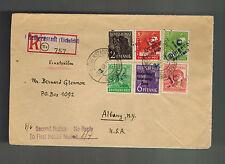 1948 Heiligenstadt East Germany DDR Cover to USA Revalued Mark