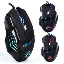 Brand X7 3200 DPI 7 Button DEL Optical Gaming Mouse USB Wired gamer Mice
