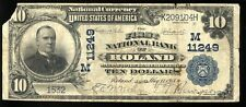 LARGE 1902 NATIONAL BANK NOTE $10 ROLAND IOWA IA CH #11249 *RARE* 3 KNOWN #0012