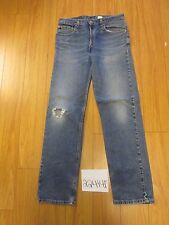 levi 505 feather destroyed grunge jean tag 33x32 Meas 32x32 22414F
