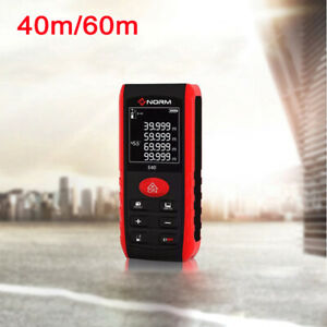 40m /60m Digital Laser Distance Meter Measurer Area Volume Range Finder Measure