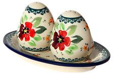 Polish Pottery Salt and Pepper Shakers from Zaklady Boleslawiec 962/961-du116