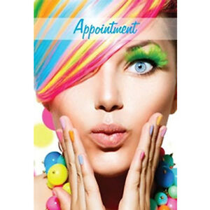Hairdresser Beauty Nail Appointment Cards 100 Premium RAINBOW Design Salons