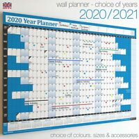 Wall Calendars ✔2020 ✔2021 Year Planner Chart Holidays Staff✔Home✔Office BLUE