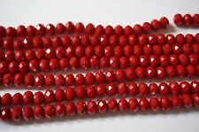 Christmas red quartz beads 16.5''-Red quartz faceted rondelles 5x8mm