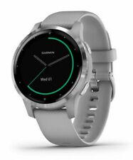 New Garmin Vivoactive 4S Gray Band Stainless Steel Bezel GPS Smartwatch + More
