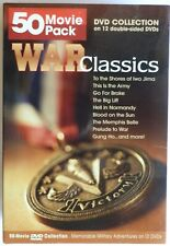50 Movie Pack WAR CLASSICS DVD Collection Military Army B&W Historical War 1947