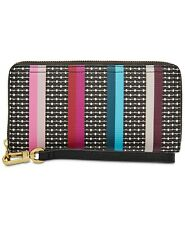 Fossil Logan RFID Zip Around Clutch Colorful Stripes, One Size