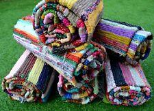 New Indian Handmade Chind-Dari Garden Decor HandWoven Vintage Carpet Rugs Throw