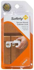 Cabinet Lock Secure Mount Installs on Knobs or Handles (2 Sets) 2 Pack Safey 1st