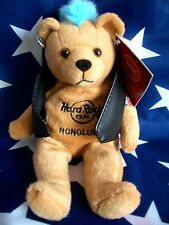 HRC Hard Rock Cafe Honolulu Hawaii Punk Bear Mohawk 2011 Blue Hair Herrington