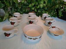 Vintage Cades Cove by Citation 9 pieces cups, souffle bowl, condiment dish
