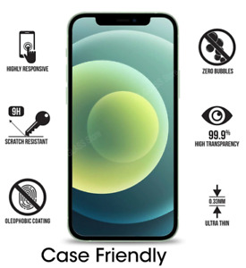 For apple iPhone 11 ,  2 x Tempered Glass Screen Protector Case Friendly