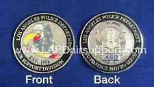 Los Angeles Police Department Air Support Division Challenge Coin W/ Badge -LAPD