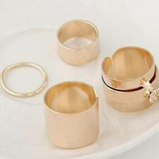 4Pcs Women Rings Set Rings Fashion Men Stack Gothic Punk Finger Simple Knuckle