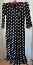 Polka Dot Midi Regular Size Dresses for Women