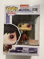 Mint! Funko Pop! Avatar Zuko Box Lunch Exclusive Glow In The Dark! #838 In Hand