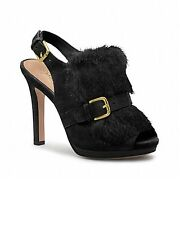 "NEW COACH ""Bea"" Q1662 Black Suede & Rabbit Fur Women's Size 8-Medium $299"