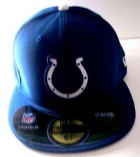 INDIANAPOLIS COLTS New Era 59Fifty NFL Cap Fitted Blue Hat Size 6 7/8