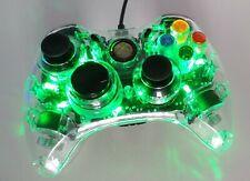 Green Light-Up Afterglow Microsoft Xbox 360 filaire contrôleur très bon état