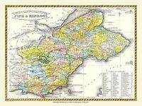 History Portal Map of Fife & Kinross 1847 by Blacks 1000 Pc Jigsaw Puzzle (jg)