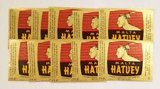 US American LA LOT 10x malt beer label Malta Hatuey 12 Fl. Oz Indian