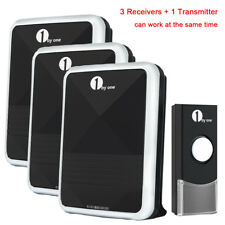 36 Chimes Led 100M Wireless Portable Digital Door Bell Chime Sync 3 Receivers
