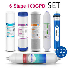 6 Stage 100 GPD Alkaline Reverse Osmosis System Replacement Water Filter Set