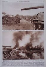 1953 PRINT THE ATTACK ON THE VIET MINH BASE OF PHU-NHO-QUAN,SOUTH WEST OF HANOI
