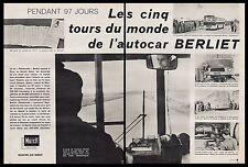 Publicité Autocar BERLIET Autobus Bus car vintage ad article (4 pages) 1961 - 2i