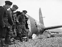 WWII B&W Photo German Luftwaffe He111 Over  England WW2 World War Two  /6031