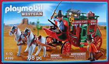 PLAYMOBIL # 4399 WESTERN STAGE COACH HORSE W/WAGON & SHOT GUN RIDER PLAYSET  MIB