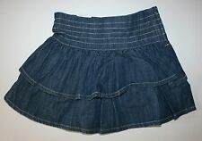 New NEXT UK Blue Chambray Tiered Ruffle Skirt Size 4 Years 104cm NWT Girls