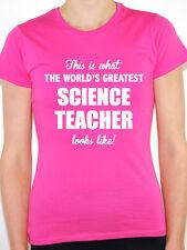 WORLDS GREATEST SCIENCE TEACHER - Scientist / Novelty Themed Women's T-Shirt
