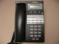 One Refurbished Samsung iDCS 8D Falcon Phone, Charcoal (Black, F8DG)