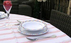 Mosaic Melamine Tablewear Plates & Dishes Camping Caravan Garden Dinner Set