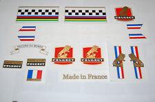 Peugeot Cadre Allege bike decals complete set, vintage frame restoration