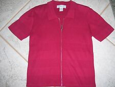 Ladies zippered red top by Dress Barn in a size Medium.