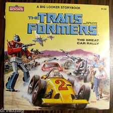 Vintage 1984 TRANSFORMERS The Great Car Rally Marvel Storybook Big Looker