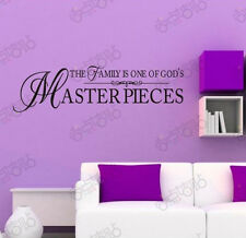 Wall stickers Family God's Masterpieces Quote Removable Vinyl Decor Home decal