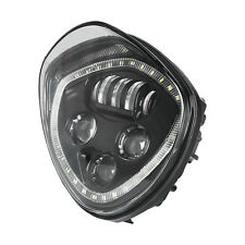 60W LED Halo Angel Eye Headlight H/L Beam For VICTORY Cross Country/Roads Black