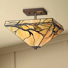 Livex Lighting 7083-07 Odyssey 1 Light Ceiling Mount Bronze