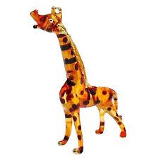 TINY CRYSTAL Giraffe HAND BLOWN CLEAR GLASS ART FIGURINE ANIMAL COLLECTION