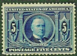 [DZ]    US #326  Mint-OG 1904 'LOUISIANA PURCHASE CENTENNIAL EXPO'