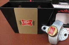 Miller High Life Beer Playing Card /  Cap Catcher & Custom Bottle Opener ..NIB