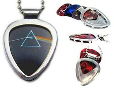 Pickbay Guitar Pick Holder Necklace + Pink Floyd Dark Side Of The Moon Pick Set